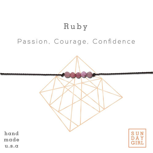Sunday Girl Amy - Ruby Intention Bracelet