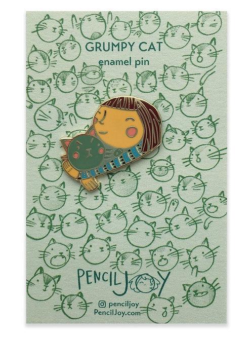 Pencil Joy - Grumpy Cat Enamel Pin