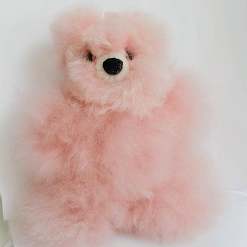 Inspired Peru - Soft Cute Stuffed Alpaca Pink Bear