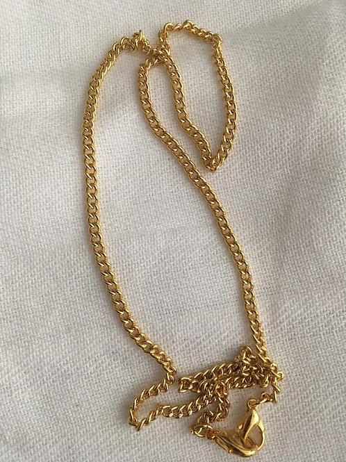 Rachel Eva - Gold Plated Mask Chain Necklace