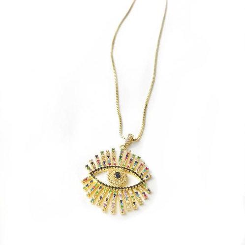 High Vibe Sentiments - Evil Eye Necklace