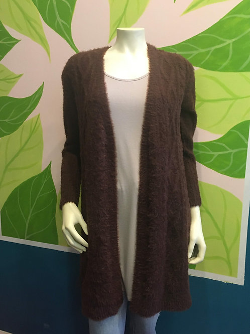 Teeberry & Weave - Super Soft Brown Cardigan With Pockets