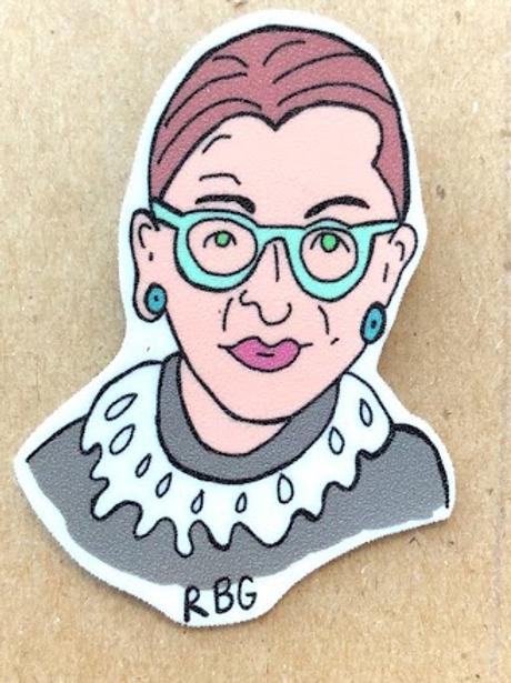 Paper Bones Atl - Ruth Bader Ginsberg Pin