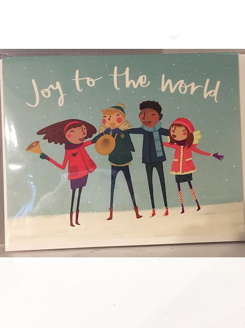 Pencil Joy - Joy To The World Card