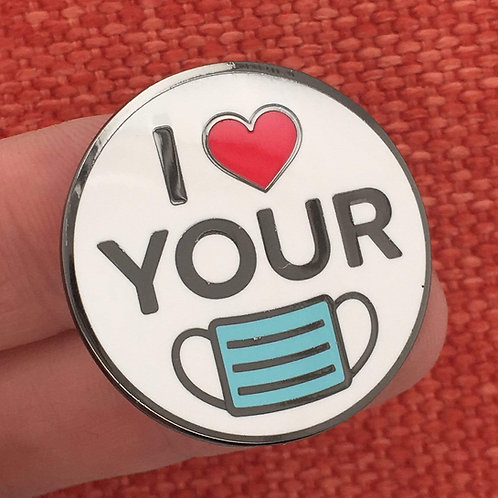 Dissent Pins - I ❤ Your Mask Enamel Pin