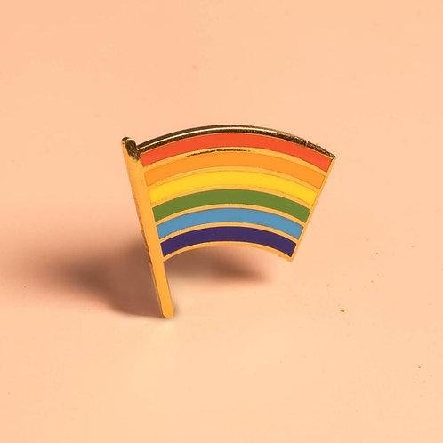 Dissent Pins - Gay Pride Flag Pin