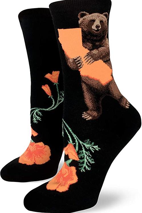 Mod Socks - California Bear Hug Women's Crew Socks