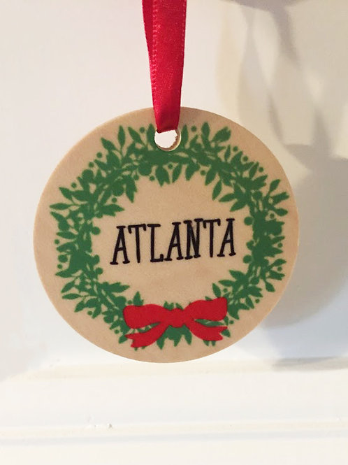 Rock Scissor Paper - Atlanta Wreath Ornament