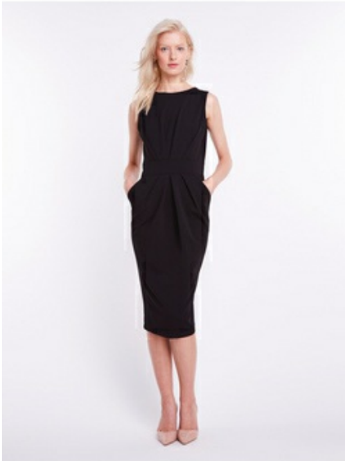 Misstery - Portland Sheath Dress with Pockets in Black With Pockets