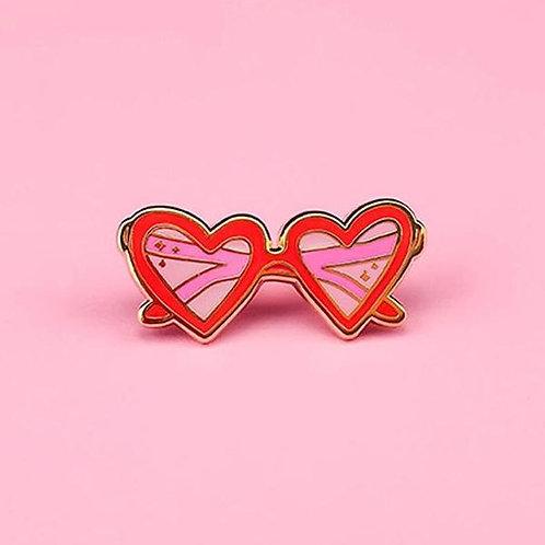Little Arrow - Heart Sunnies Pin