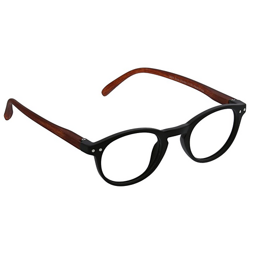 Peepers - Style Eleven: Black/Brown +2.25