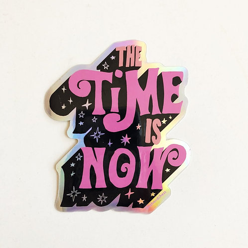 Ash & Chess - The Time is Now Holographic Sticker