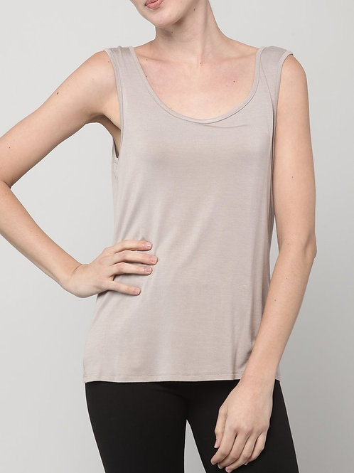 Inae Collection - Short Taupe Tank Top