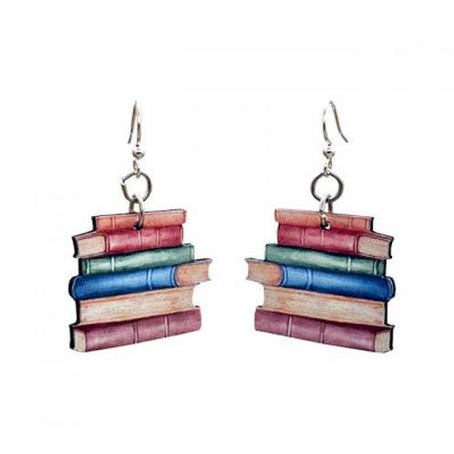 Green Tree - Book Earrings