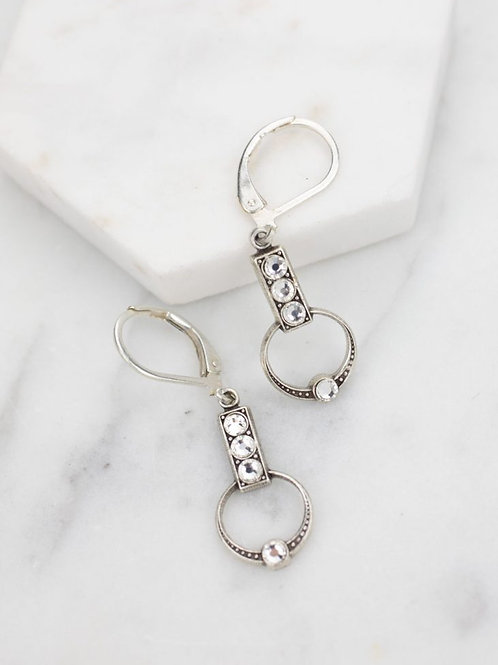 Grandmother's Buttons - Silver Delicate Deco Earrings