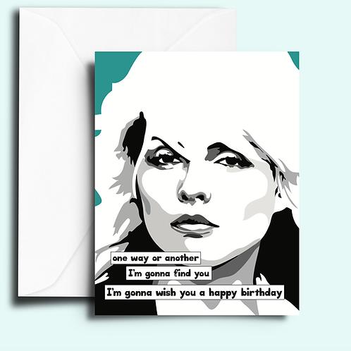 Fem Cards - Debbie Harry Blondie Birthday Card