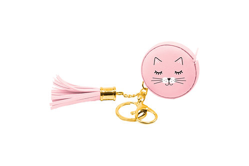 Eccolo - Pink Cat Measuring Tape Keychain