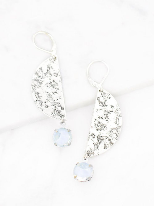 Grandmother's Buttons - Silver Lexi Earrings