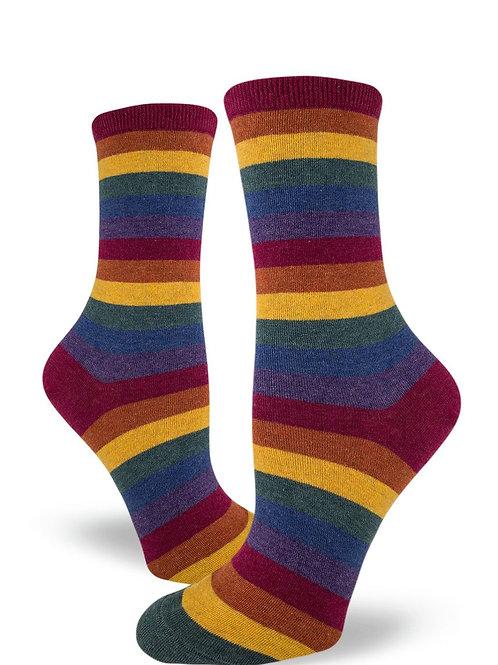 Mod Socks - Heather Rainbow Crew Socks