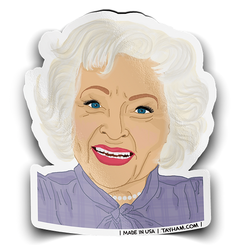 Tay Ham - Betty White Sticker