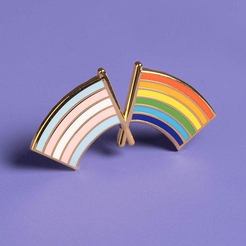 Dissent Pins - Trans & LGBTQ Pride Flag Enamel Pin