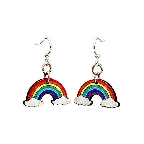 Green Tree - Full Rainbow Earrings