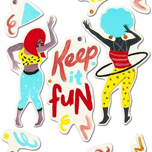 Compendium - Keep It Fun Vinyl Sticker Sheet