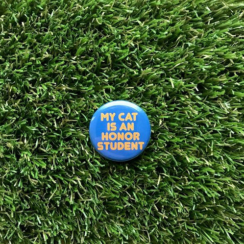 Double Denim Dude - My Cat is an Honor Student Pin