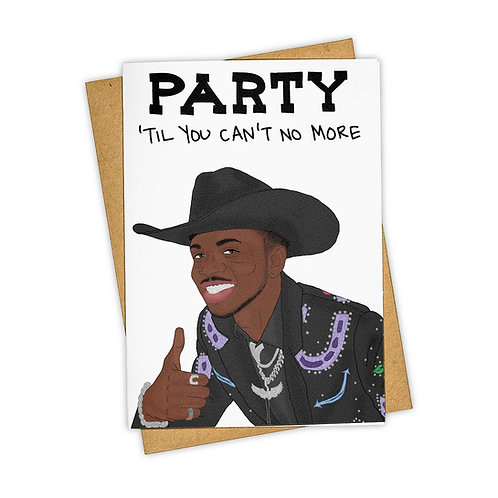 Tay Ham - Lil Nas X Party Til You Cant No More Card