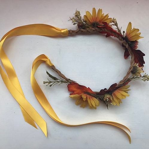 May's Monsters - Golden Floral Crown