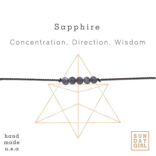 Sunday Girl Amy - Sapphire Intention Bracelet