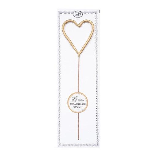 Tops Malibu - Gold Heart Sparkler Wand