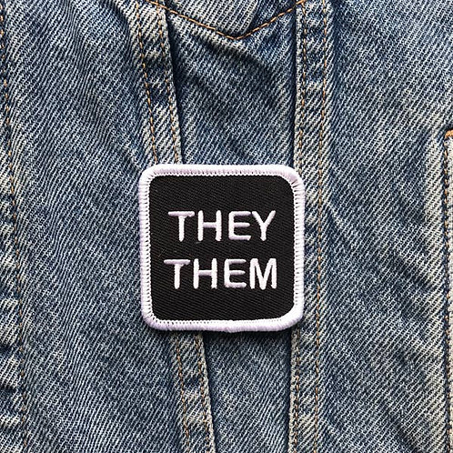 Double Denim Dude - They Them Patch