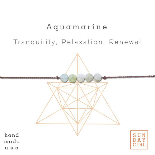 Sunday Girl Amy - Aquamarine Intention Bracelet