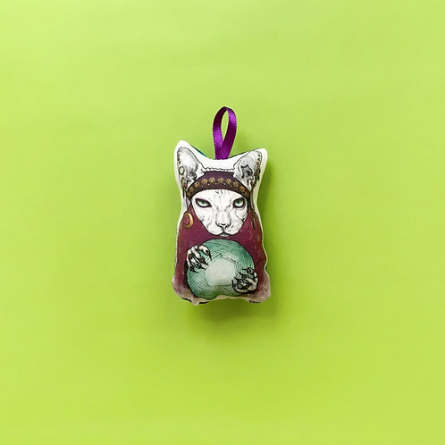 Shop Aberleigh - Fortune Teller Cat Ornament
