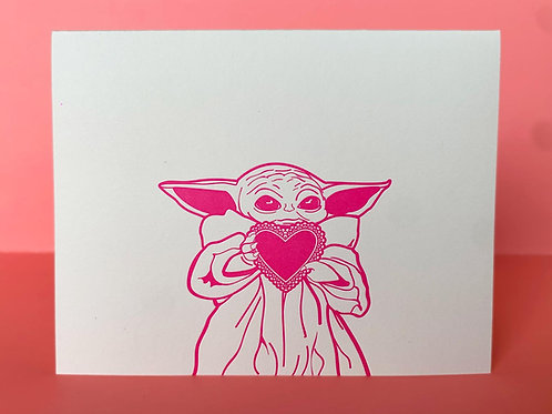 Coffee n Cream Press - This is the way Baby Yoda Card