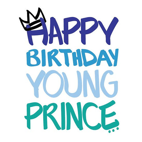 Shannon Cohen - Happy Birthday Young Prince in Blue