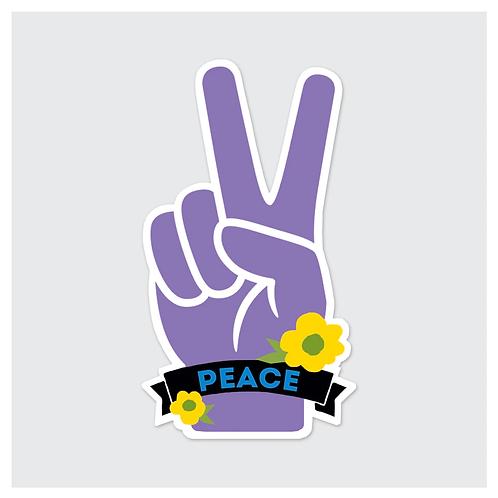 Rock Scissor Paper - Peace Sign Sticker