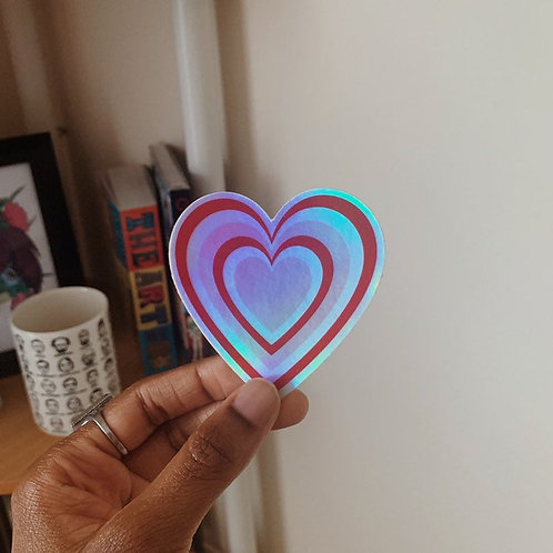 LoveNanaCo - Holographic Powerpuff Girls Heart
