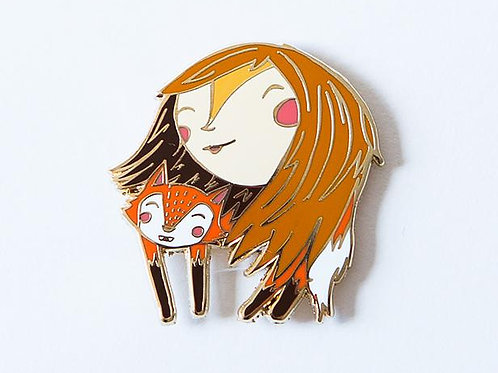 Pencil Joy - Fox Lady Enamel Pin