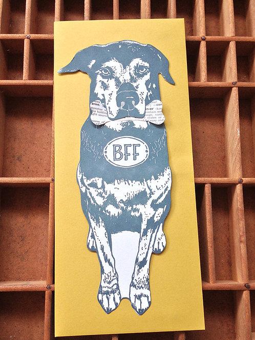Blackbird Letterpress - BFF Dog Gift Card