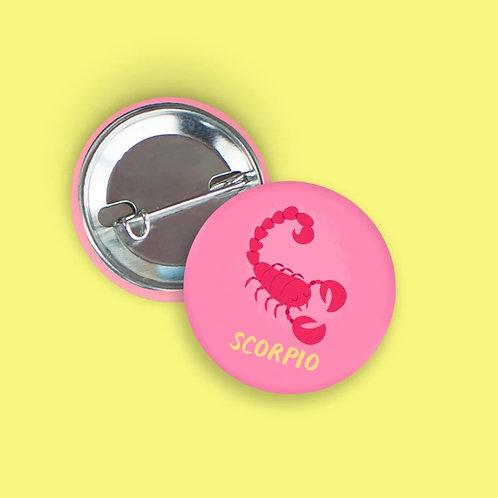 Nicole Marie Paperie - Scorpio Zodiac Button