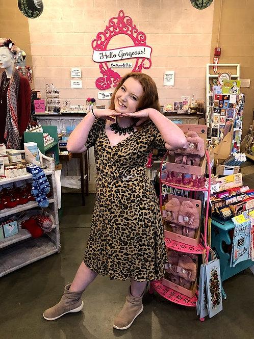 Teeberry & Weave Leopard Print Dress
