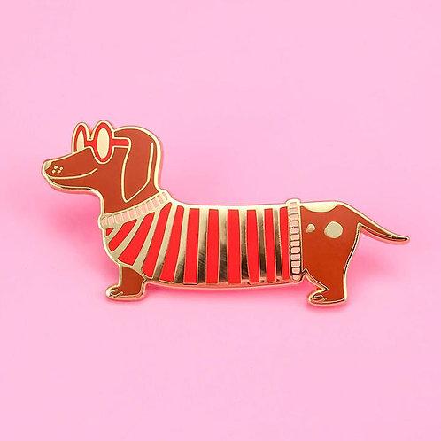 Little Arrow - Mr. Wiener Dog Pin