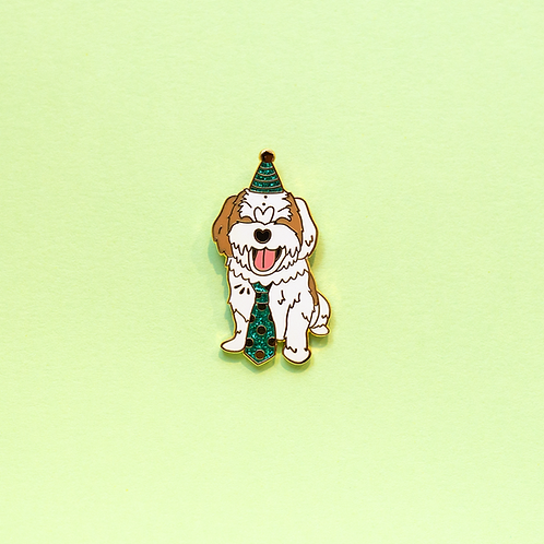 Malz Palz - Andrew The Party Pup Pin