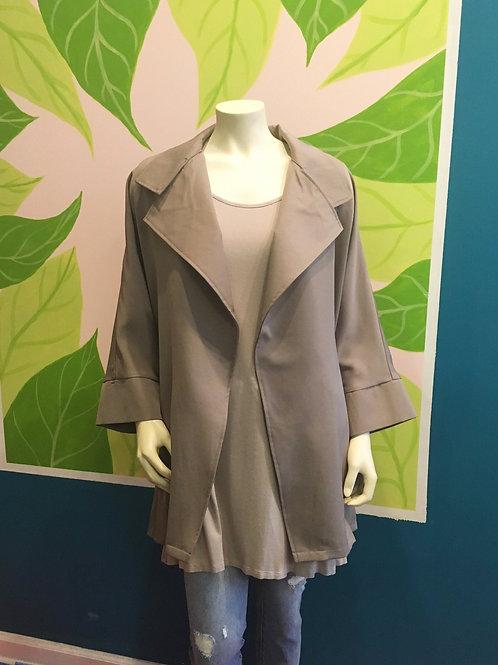 Papillon - Khaki Tan Over-Sized Jacket With Pockets
