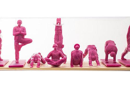 Yoga Joes - Pink Set of 9