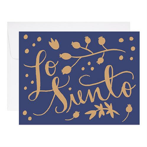 9th Letterpress - Lo Siento
