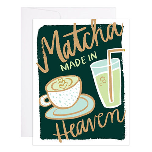 9th Letterpress - Matcha Made in Heaven Card