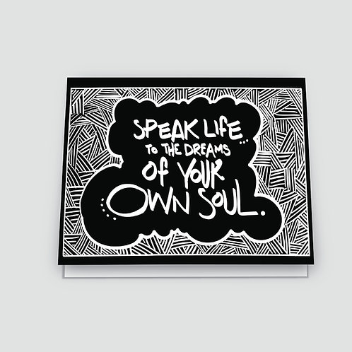 Shannon Cohen - Speak Life Card